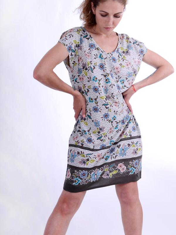 Платье с цветочным принтом S86