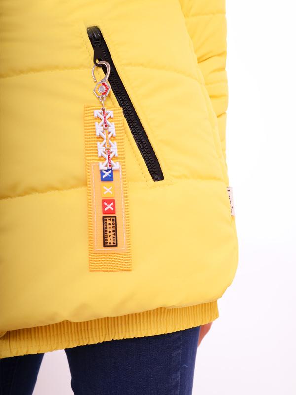 Куртка подовжена LUXIK жовтий k34