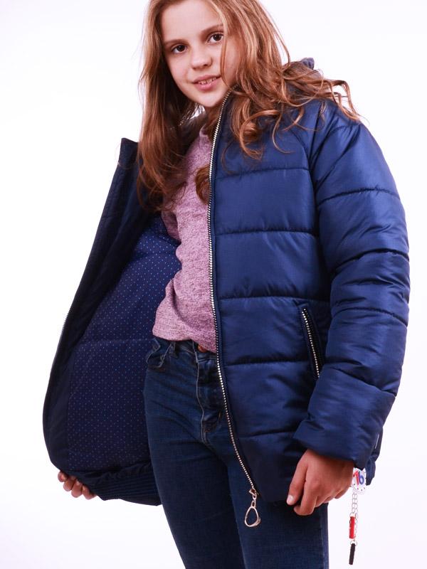 Куртка удлиненная LUXIK темн.синий k36