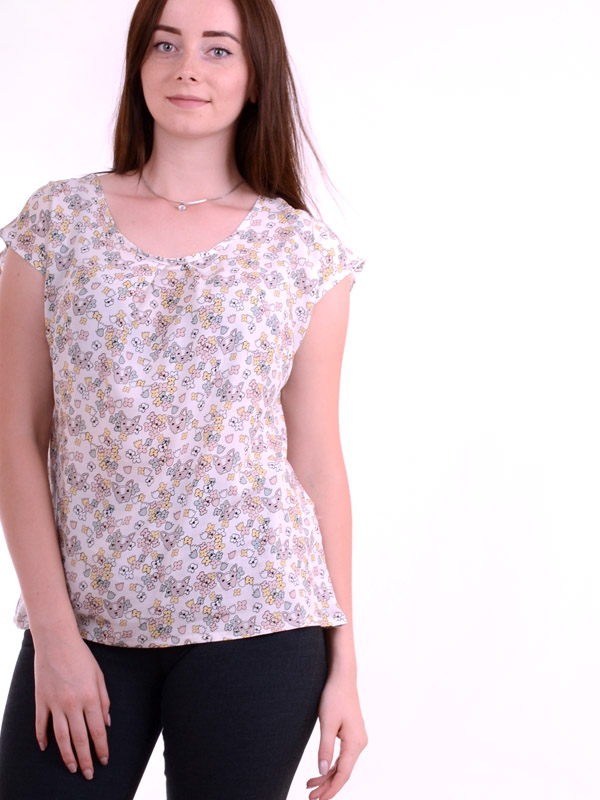 Blouse with a print of a dog B62