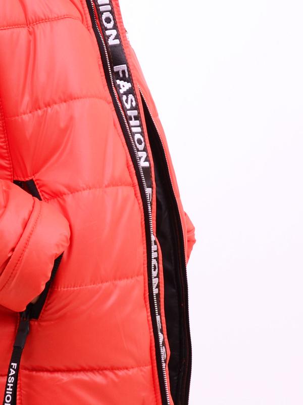 Зимняя удлиненная куртка LUXIK оранж k33