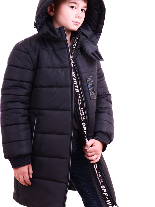 LUXIK teenager quilted coat navy blue p39
