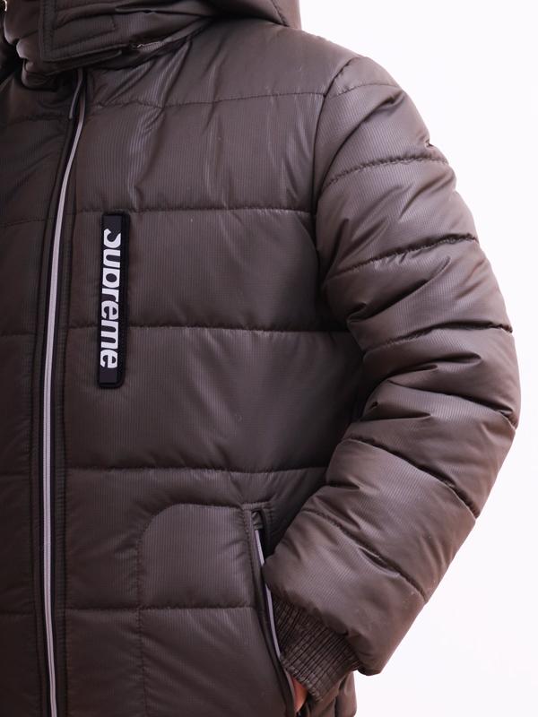 Стеганое пальто LUXIK teenager хаки р38