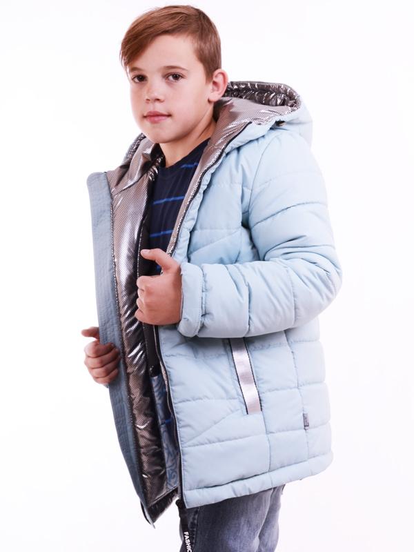 Куртка подовжена LUXIK блакитний k31