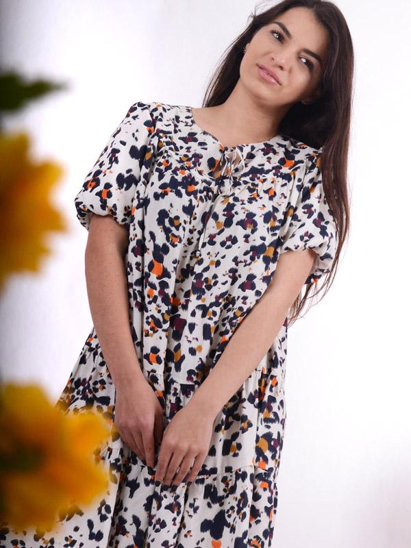 Платье с леопардовым принтом S54