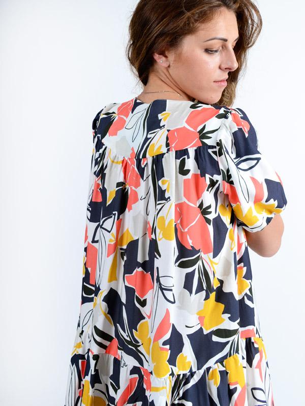 Платье с цветочным принтом S55