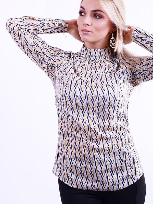 Блуза з коміром-стійкою B58