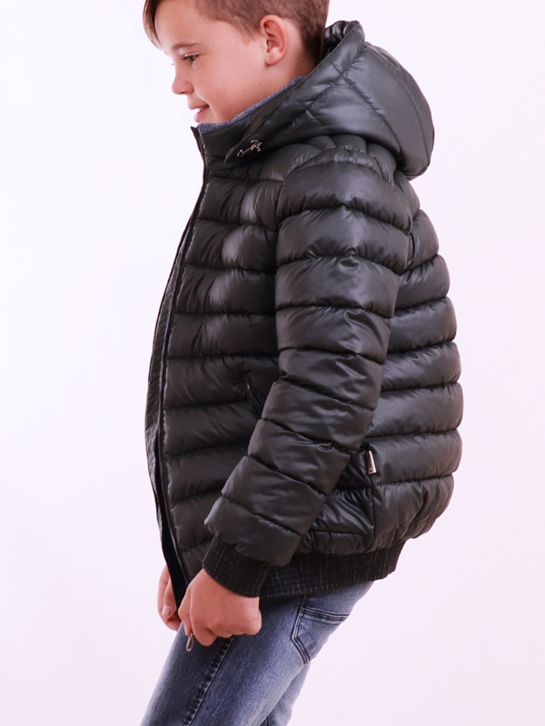 Down jacket LUXIK teenager dark green p91