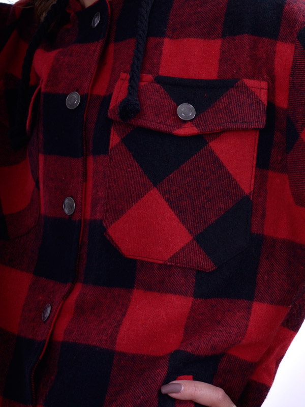 Рубашка утепленная оверсайз