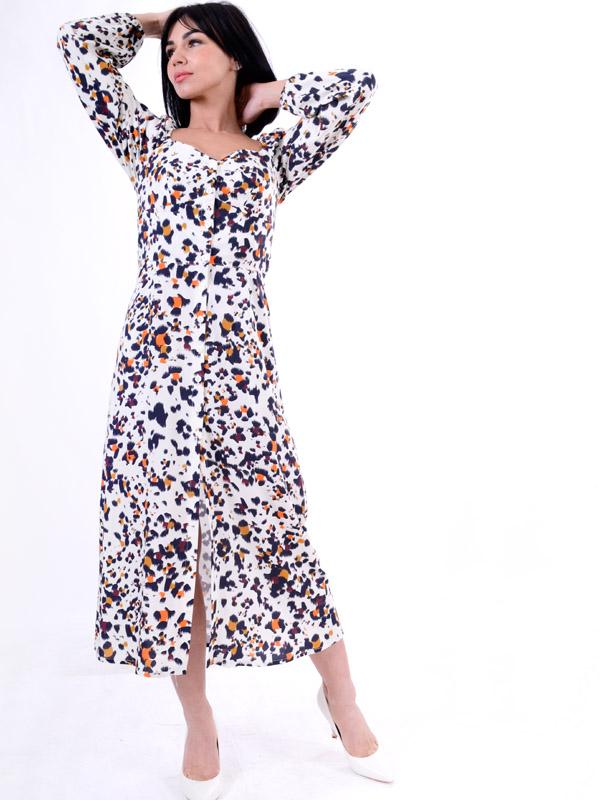 Плаття з довгим рукавом гепард