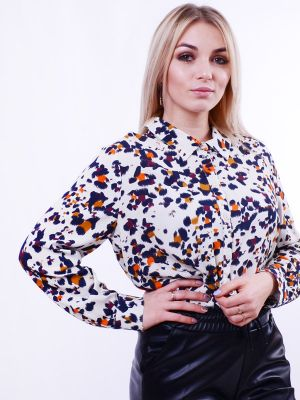 Blouse with leopard print B63