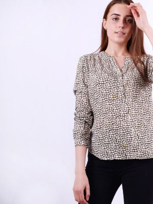 Blouse with a lamb print of B73